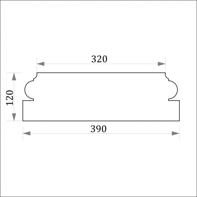 База пилястры ФБП 6 (h 120)