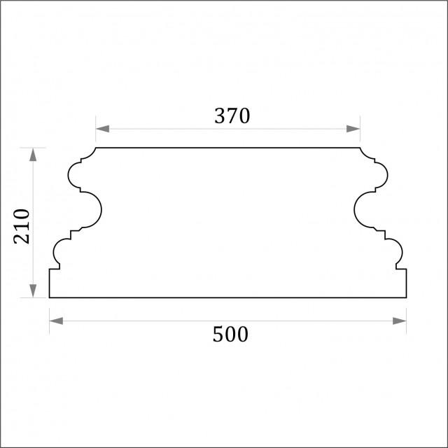 База пилястры ФБП 7 угловая (h 210)