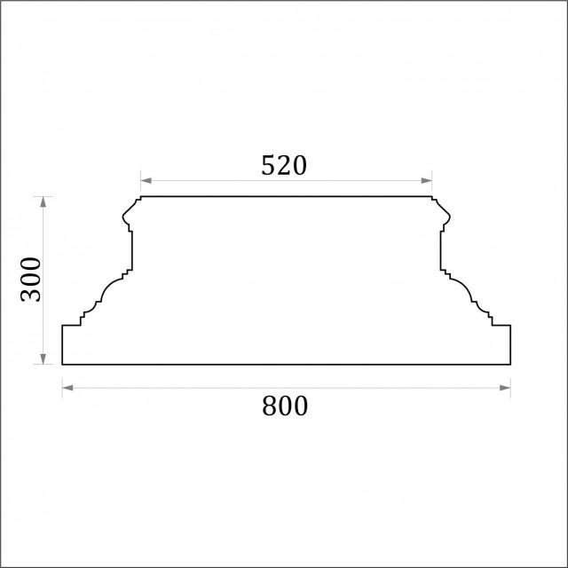 База пилястры ФБП 13 угловая (h 300)