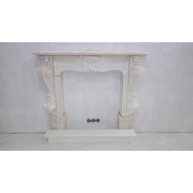 Лепной декоративный камин из гипса №8