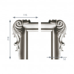 Гипсовая лепнина декоративный угол у-46б h218х115мм