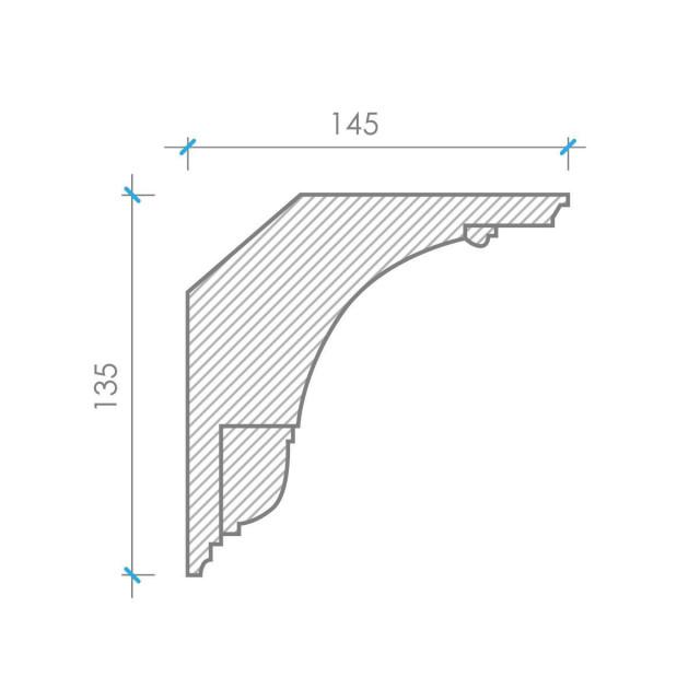 Потолочный карниз К-111 из бетона