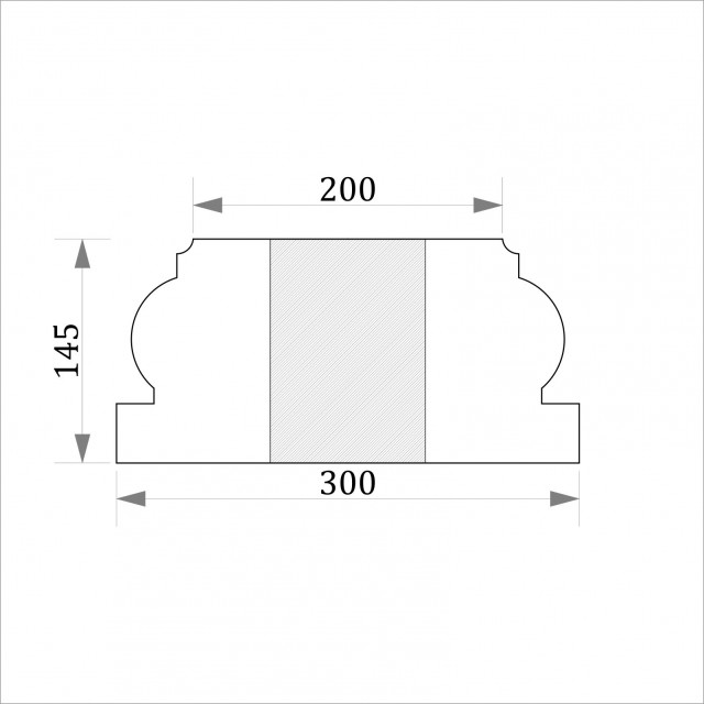 База квадратная ФБК 2 h145 (d180)