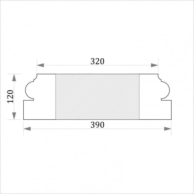 База квадратная ФБК 6 h 120 (d300)