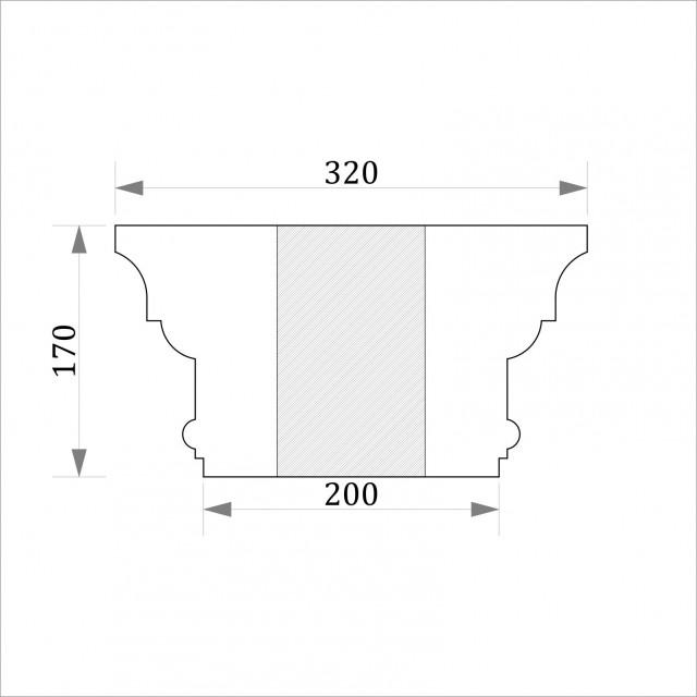 Капитель круглая ФКК 1 h170 (d180)