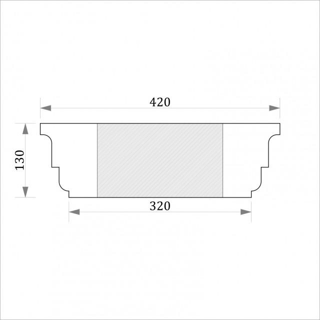 Капитель квадратная ФКК 6 h130 (d300)