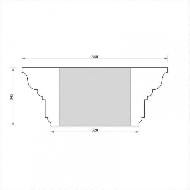 Капитель круглая ФКК 13 h345 (d500)