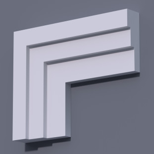 Фасадный молдинг (наличник) ФМ 12 (h 150)