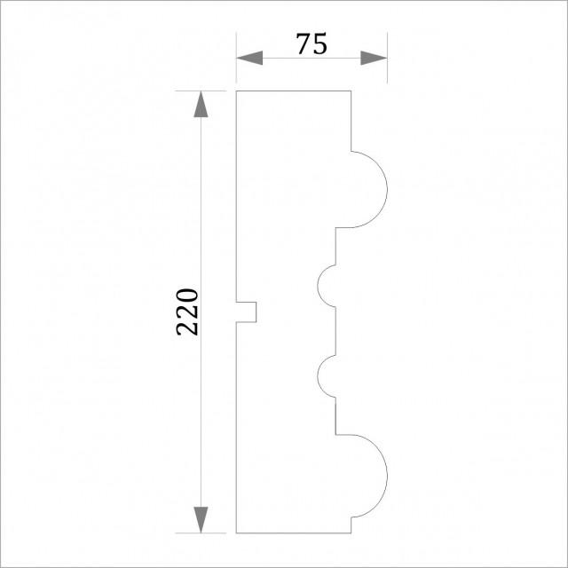 Фасадный молдинг (наличник) ФМ 14 (h 220)