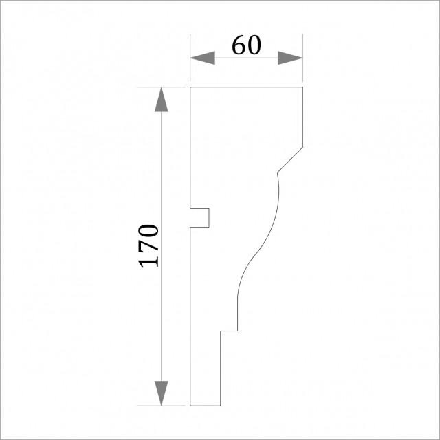 Фасадный молдинг (наличник) ФМ 18 (h 170)