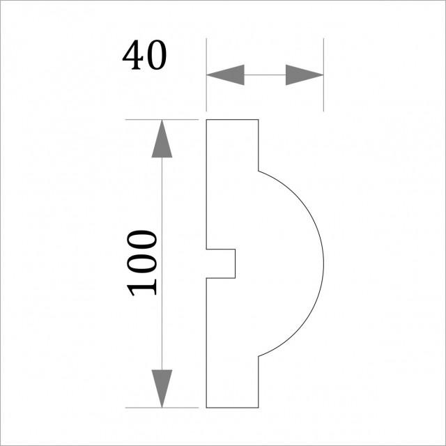 Фасадный молдинг (наличник) ФМ 19 (h 100)