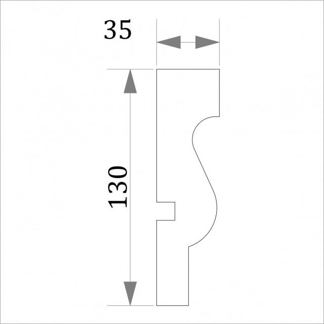 Фасадный молдинг (наличник) ФМ 21 (h 130)