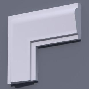 Фасадный молдинг (наличник) ФМ 22 (h 190)