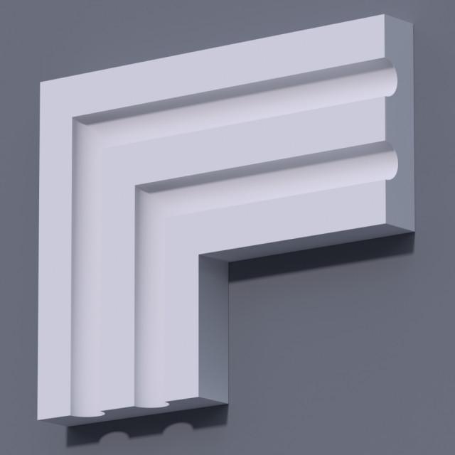 Фасадный молдинг (наличник) ФМ 27 (h 135)