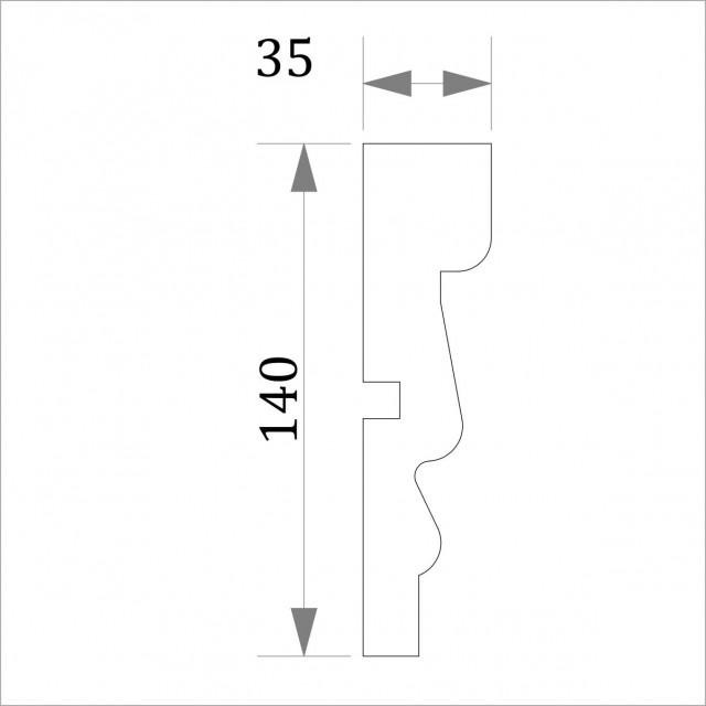 Фасадный молдинг (наличник) ФМ 28 (h 140)