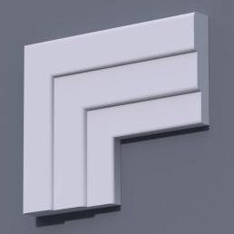 Фасадный молдинг (наличник) ФМ 30 (h 145)
