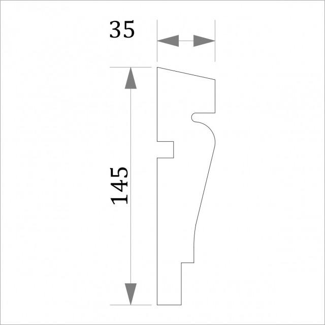 Фасадный молдинг (наличник) ФМ 31 (h 145)