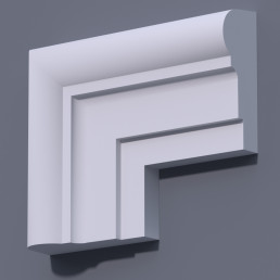 Фасадный молдинг (наличник) ФМ 33 (h 160)
