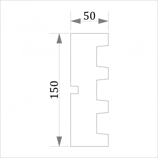 Фасадный молдинг (наличник) ФМ 35 (h 150)