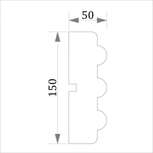 Фасадный молдинг (наличник) ФМ 36 (h 150)