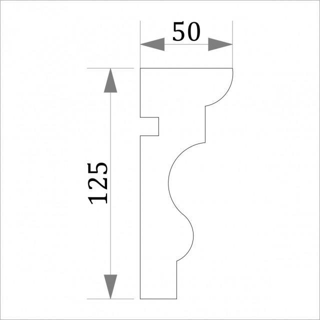 Фасадный молдинг (наличник) ФМ 3 (h 125)
