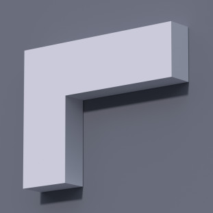 Фасадный молдинг (наличник) ФМ 4 (h 100)