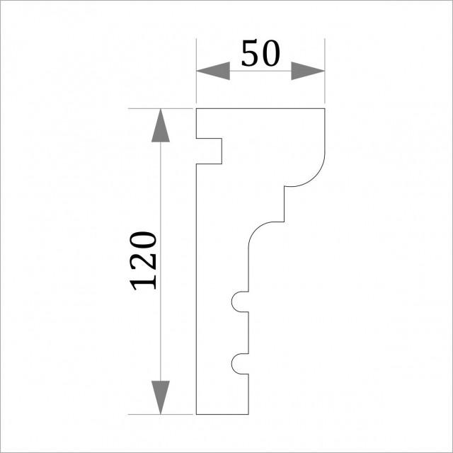 Фасадный молдинг (наличник) ФМ 5 (h 120)
