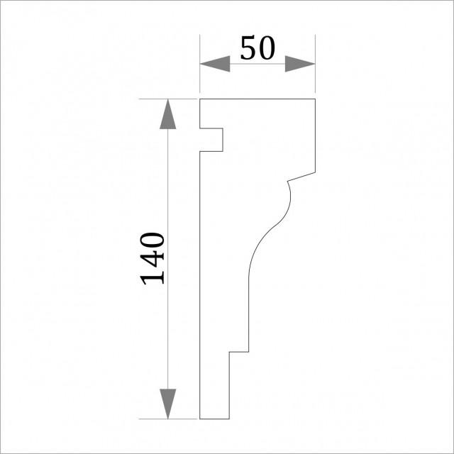 Фасадный молдинг (наличник) ФМ 6 (h 140)