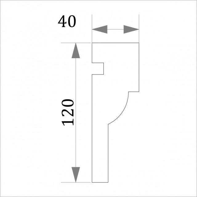 Фасадный молдинг (наличник) ФМ 7 (h 120)
