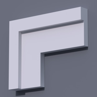 Фасадный молдинг (наличник) ФМ 9 (h 150)