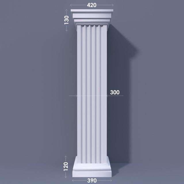 Колонна квадратная ФКА 12 d300