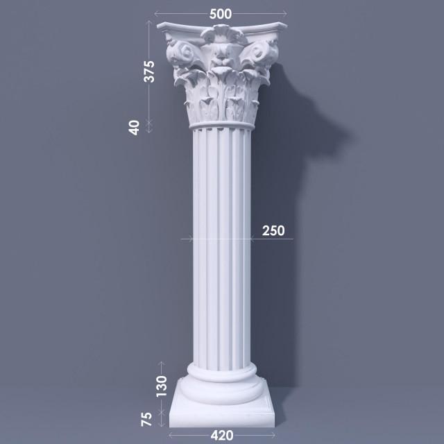 Колонна канелюрная ФКА 14 d250
