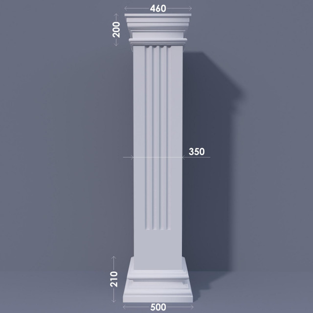 Колонна квадратная ФКА 18 d350