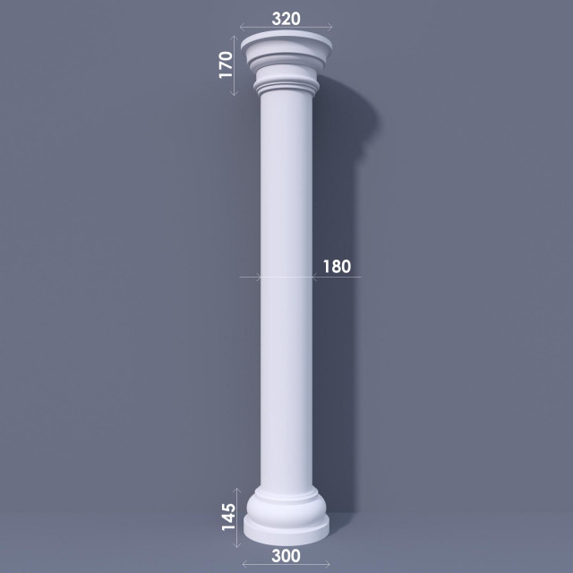 Колонна гладкая ФКА 1 d180