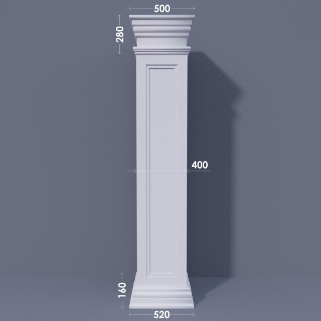 Колонна квадратная ФКА 21 d400