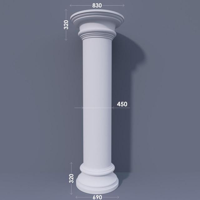 Колонна гладкая ФКА 25 d450