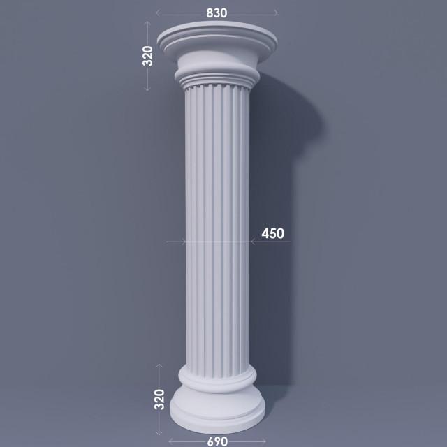 Колонна канелюрная ФКА 26 d450