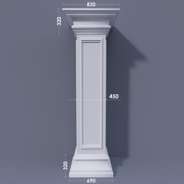 Колонна квадратная ФКА 27 d450