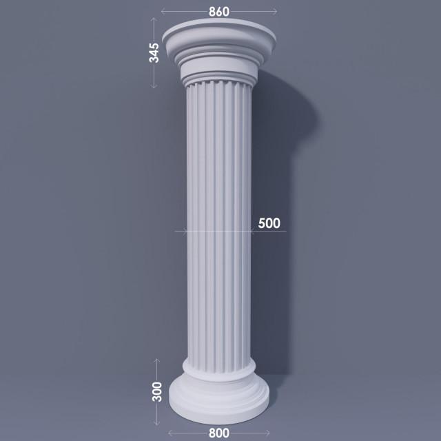Колонна канелюрная ФКА 29 d500