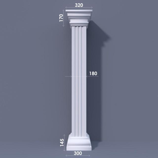 Колонна квадратная ФКА 3 d180