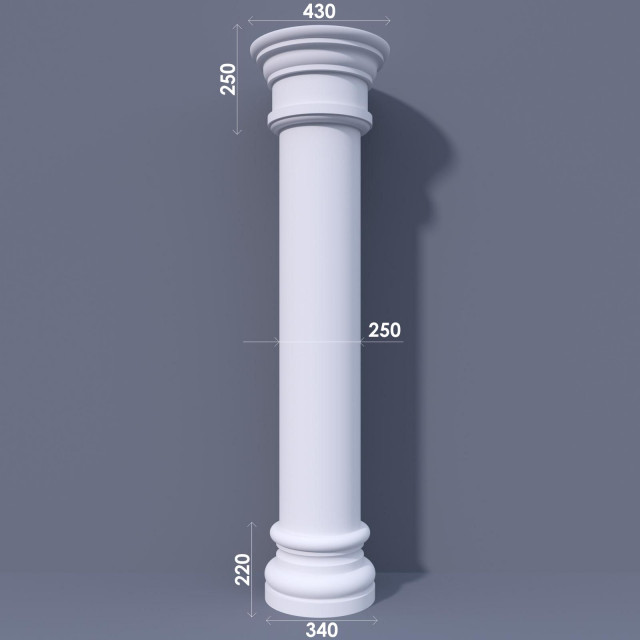 Колонна гладкая ФКА 4 d250