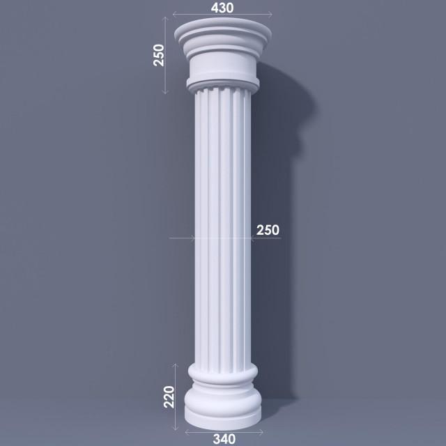 Колонна канелюрная ФКА 5 d250