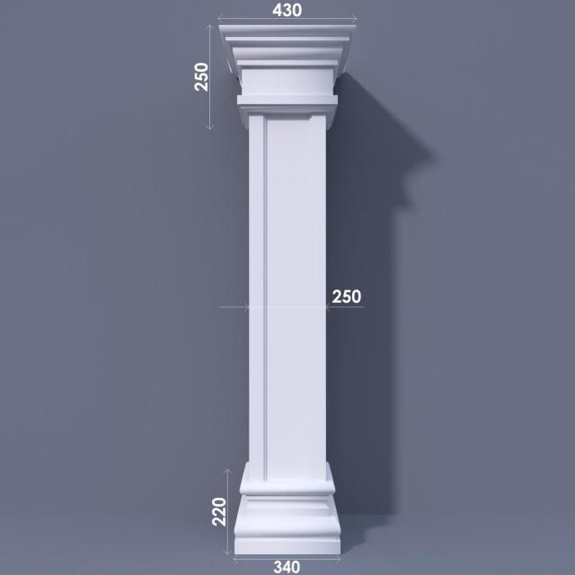 Колонна квадратная ФКА 6 d250