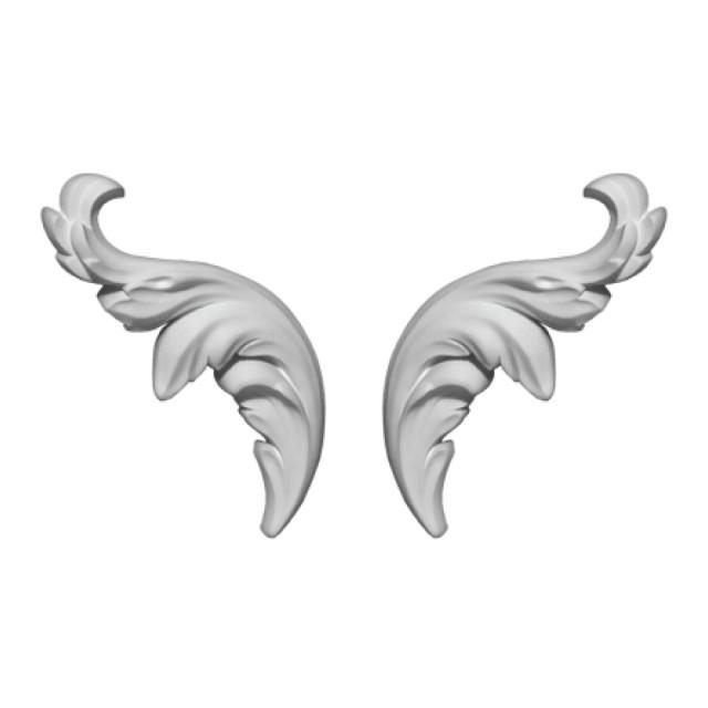 Гипсовая лепнина декоративный угол у-119 h 149х59 мм