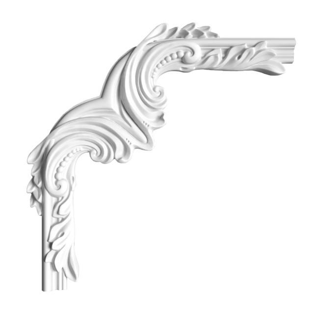 Гипсовая лепнина декоративный угол у-96 h 300х300мм