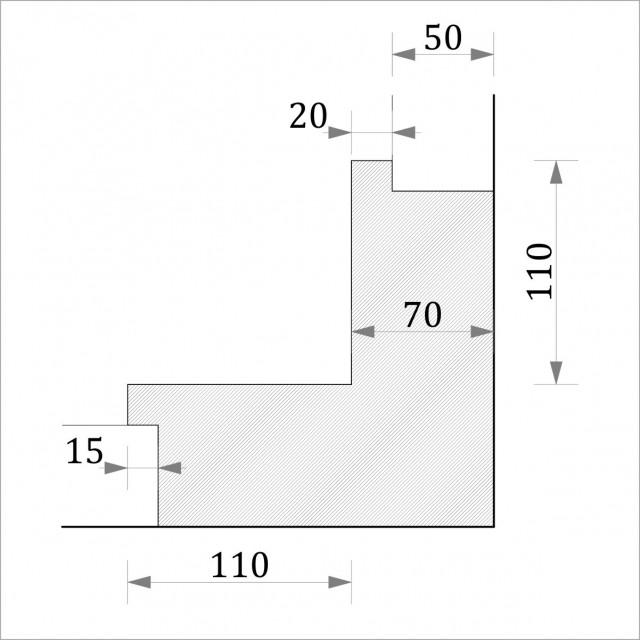 Угол внутренний УТП 4