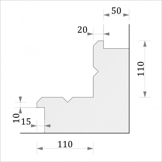 Угол внутренний УТП 5