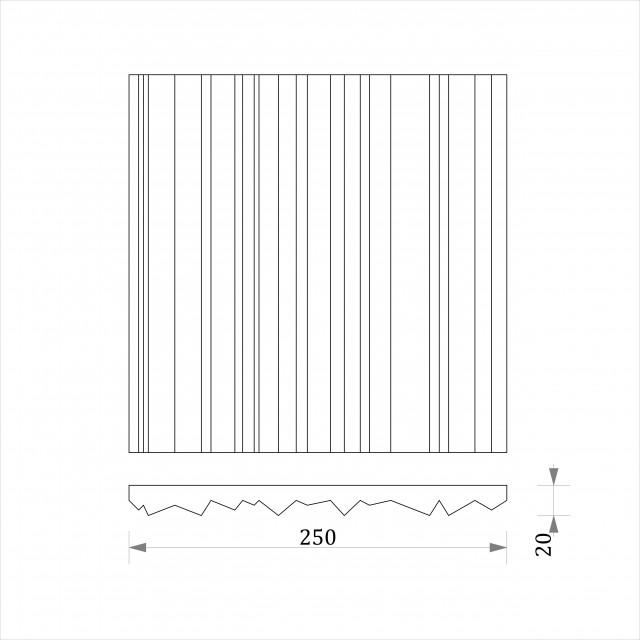 """3D панель """"Zebrano"""" 250*1000 мм."""
