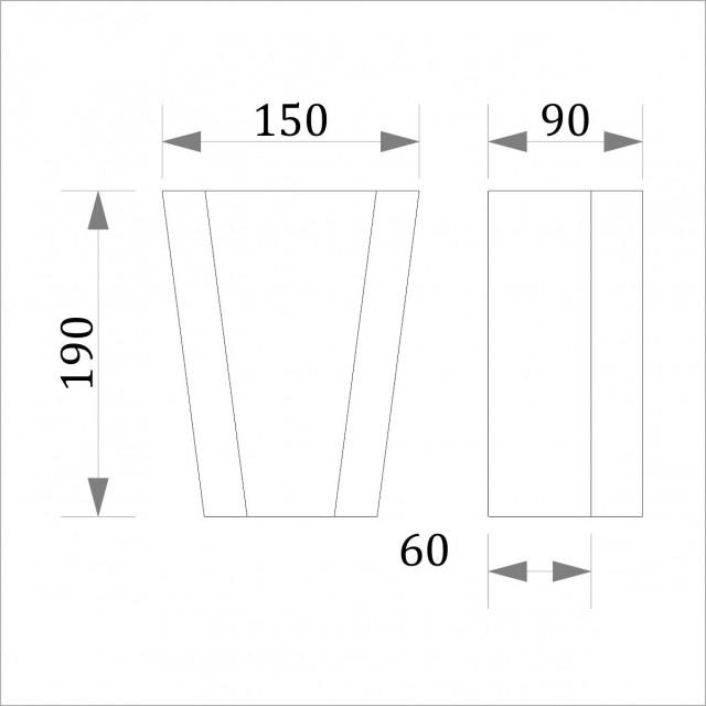 Замковый камень ЗК 14 (h 190)