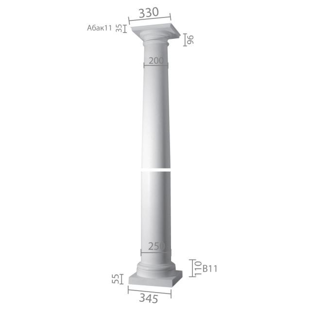 Колонна ка-11 (энтазис) из бетона